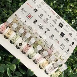 Bộ 20 chai nước hoa mini hàng test 2ml