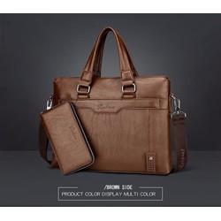 Túi xách da nam công sở tặng ví