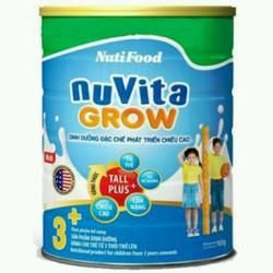 sữa bột khuyến mãi mở hàng nuvita Grow hộp 900g date 2019