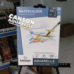 Sổ giấy vẽ A3 Canson Aquarelle 300gsm