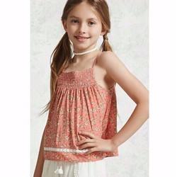Áo vải hoa cúc hai dây cho bé gái 5-14T A463