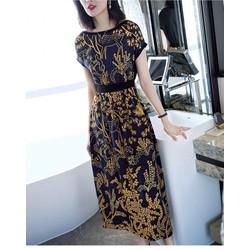 Đầm maxi eo thun