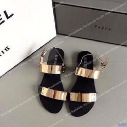 Giày sandal 2 quai tán vàng