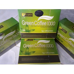 Combo 3 hộp Trà giảm cân Green Coffee 1000 Leptin chính hãng US