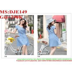 Đầm jean nữ dạo phố kiểu dáng xòe xinh đẹp và duyên dáng DJE149