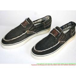 Giày xỏ nam vải jean phong cách bụi bặm cá tính GX21