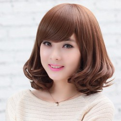 tóc giả nữ tóc giả nữ- màu nâu tối