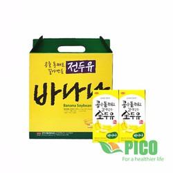 Sữa Đậu Nành Vị Chuối HANMI Hàn Quốc Thùng 16 Hộp