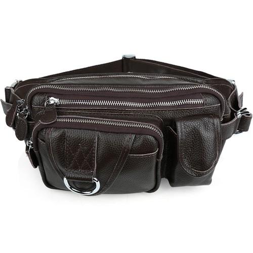 Túi đeo bụng da bò nam BigBang 393