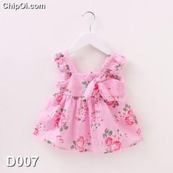 Váy đầm công chúa 2 dây hoa tiết hoa cho bé gái xinh đẹp giá rẻ