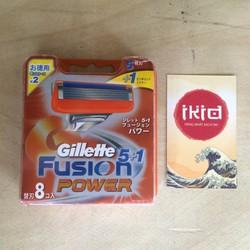 Vỉ 8 Lưỡi Dao Cạo Râu Gillette Fusion ProGlide Power