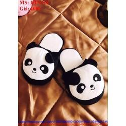 Dép bông mang trong nhà hình gấu panda xì teen DTN118
