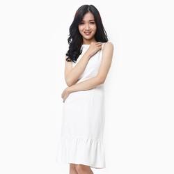Đầm thời trang đuôi cá màu trắng thanh lịch