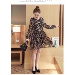 Đầm Suông Da Beo - Bầu Ok