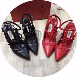 Giày Sandal Cao Gót Đính Đá