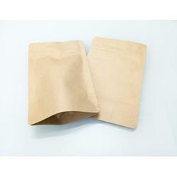 Túi giấy Kraft Zipper đáy đứng 12x19cm - không cửa sổ