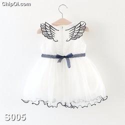 Váy đầm công chúa có cánh thiên thần cho bé gái xinh đẹp giá rẻ
