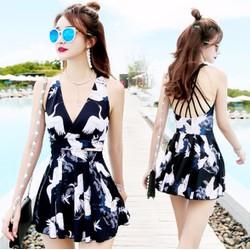 Váy bơi liền kiểu Hàn Quốc -Y7088