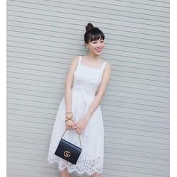 Đầm Ren Xòe 2 Dây