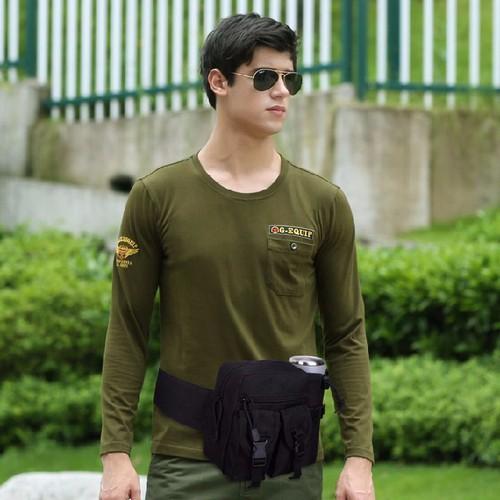 Túi Đeo Thắt Lưng Đi Phượt Model 2 Màu Đen