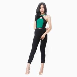 Jumpsuit thời trang phối màu sang trọng M1
