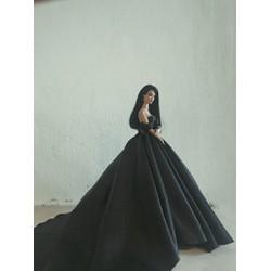 Đầm cưới búp bê màu đen phiên bản đặc biệt
