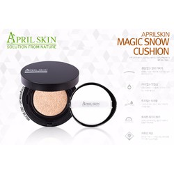 PHẤN NƯỚC APRIL SKIN BLACK MAGIC SNOW CUSHION-shop HOA TRANH
