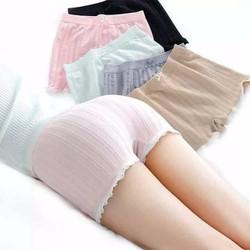 Quần lót nữ mặc trong váy, chất liệu cotton pha ren trẻ trung