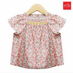 Áo bé gái hoa xích móc xuất Hàn