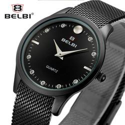 Đồng hồ thời trang nữ BELBI dây lưới thép mạ màu - Mã số: DHN1702