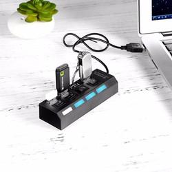 Thiết Bị Chia Cổng USB 4 Cổng Có Công Tắc