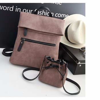 Bộ balo kết hợp túi đeo vai kèm túi nhỏ bucket