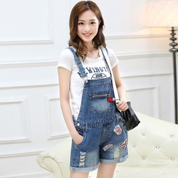 Quần Yếm Jeans Túi Phối Tia Kéo Y513
