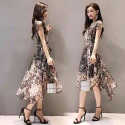 Đầm xoè hoạ tiết cực xinh NX125