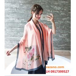khăn choàng nữ khăn choàng cao cấp khăn quàng SATIN CASHMERE L12K45