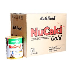 Tặng 1 ly thủy tinh khi mua 1 lon sữa Nucalci Gold 900g