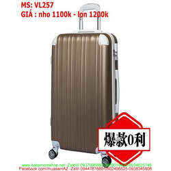 Vali kéo du lịch nhựa mẫu mới đẹp và dễ thương VL257