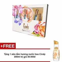 Bộ 6 nước hoa Cindy 8mlx6 - Tặng 1 sữa tắm Cindy 200ml