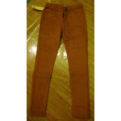 quần jeans kaki lưng cao màu bò