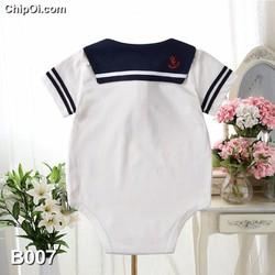 Bodysuit áo liền đũng may họa tiết đồng phục cho trẻ sơ sinh giá rẻ