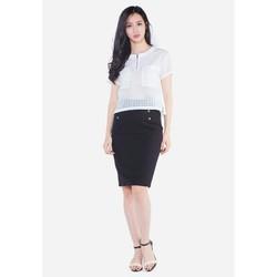 Áo Croptop nữ Zenic màu trắng