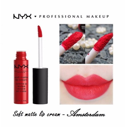Son kem NYX Professional Makeup Soft Matte Lip Cream Amsterdam SMLC01