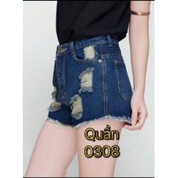 short jean rách cạp cao