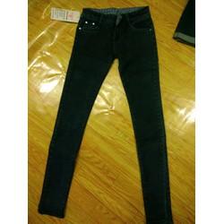 quần jeans lưng cao màu lông chuột đen