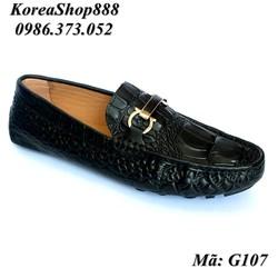 Giày Mọi Da Bò Vân Cá Sấu Mã G107
