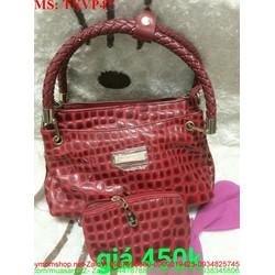 Túi xách nữ công sở màu đỏ kèm túi nhỏ sang trọng TXVP47
