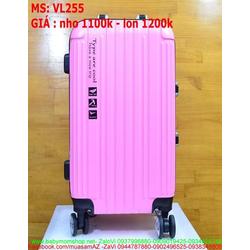 Vali kéo du lịch nhựa thiết kế đẹp và màu trơn VL255