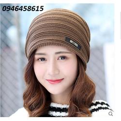 nón len nữ, nón chụp đầu Korean thời trang model mới nhất HNNL23