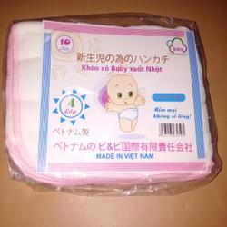 Khăn sơ sinh, Khăn sữa Baby xuất Nhật 4 lớp Cotton 10 chiếc