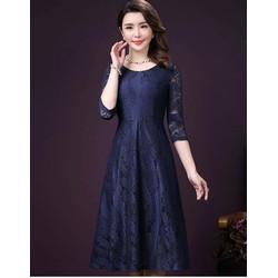Đầm xòe Cao Cấp Ren tay lở cực đẹp